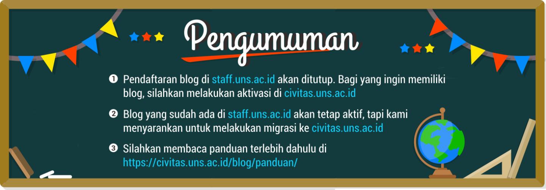 Blog Dosen dan Staff UNS